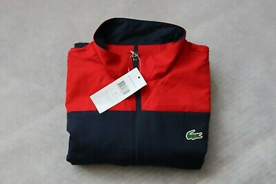 Mens Lacoste Sport Tracksuit WH9512 Top Size Small Fr 3  BNWT Red Blue • 49.99£