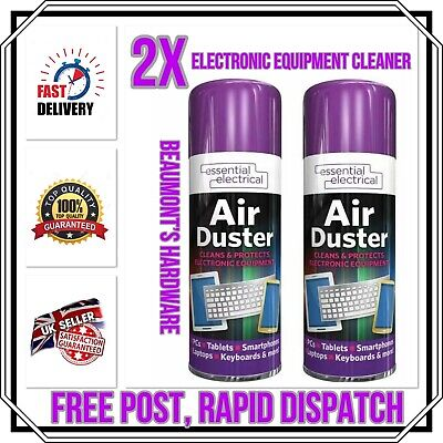 2 X Air Duster Spray Gas Cleaner Compressed Dust Blower Keyboard PC Laptop NEW • 8.99£