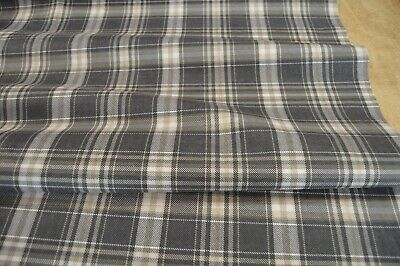 £11.99 • Buy Upholstery Fabric Waterproof Soft Suede Effect Finish Checked Grey Beige