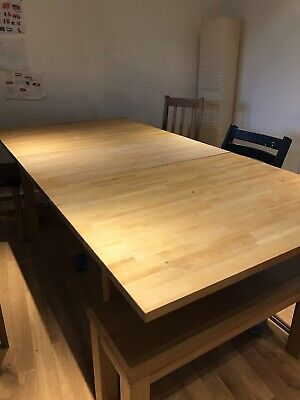 Ikea Solid Wood Extendable Dining Table • 2.50£