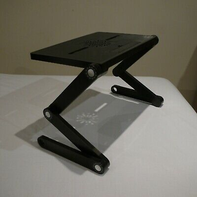 Adjustable Laptop Table Desk Stand Tray With Cooling Fan Slot - NO FAN • 10.99£
