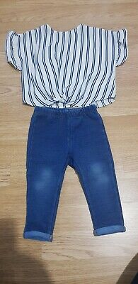 River Island Girls Top And Primark Leggings 9-12 Months • 3£