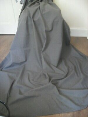 Grey Cotton Twill Curtains Unlined 56  X 64  • 20£