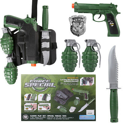 $23.74 • Buy Kids Force Military Combat Toy Gun Army Role Play Set With Grenade Badge Pistols