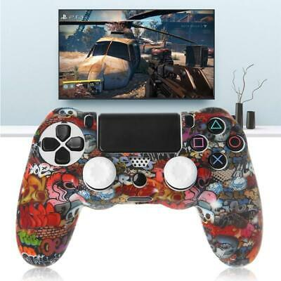 AU5.11 • Buy Gamepad Controller Protective Cover Silicone Sleeve Guard + 2 Grip Caps For PS4