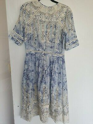 AU279 • Buy Zimmermann Confetti Scallop Embroidered Day Dress Size 2