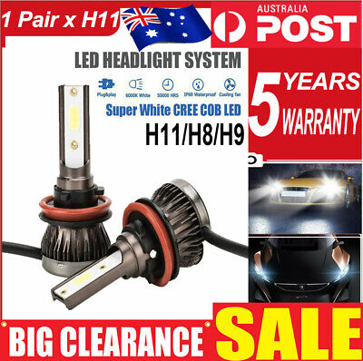 AU17.23 • Buy H11 H9 H8 LED Car Headlights 20000LM High/Low Beam Replace Xenon Halogen Globes