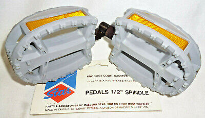AU19.95 • Buy VINTAGE 1980s BMX BIKE PEDALS - New Old Stock - Malvern Star - 1/2  Spindle