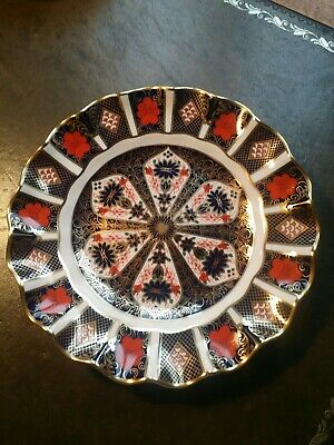 ROYAL CROWN DERBY 'Imari 1128' Fluted Plate, 1st Quality In Excellent Condition  • 77£
