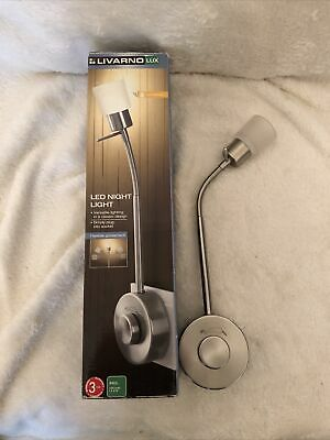 Livarno Lux Led Night Light Lamp Simply Plug Into Socket Rotary Dimmer Switch • 8£