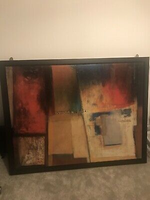 Large Framed IKEA Abstract Art Picture Print • 40£