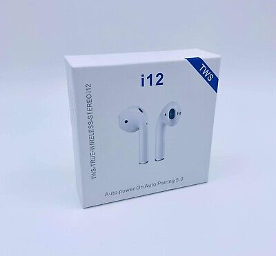TWS I12 5.0 Wireless Bluetooth Earbuds Earphones Headphones For Android IOS • 8.49£