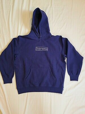 $ CDN359.84 • Buy Supreme Kaws Box Logo Hoodie Medium Washed Navy CONFIRMED ORDER 100% Authentic M