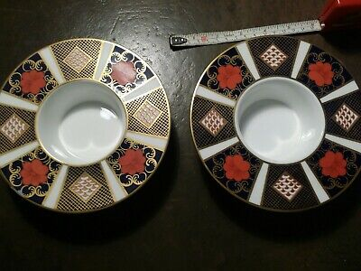 2 Royal Crown Derby Imari Trinket /plate /stand? In Excellent Condition.  • 27£