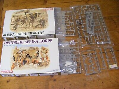 1/35 Dragon Afrika Korps Figures 6063 & 6138 Plus Unboxed Sprues • 35£