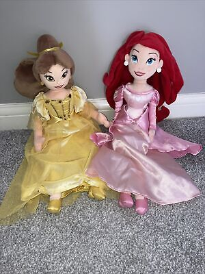 Disney Store Belle Soft Toy Doll, From Beauty And Beast And Ariel Little Mermaid • 16.99£