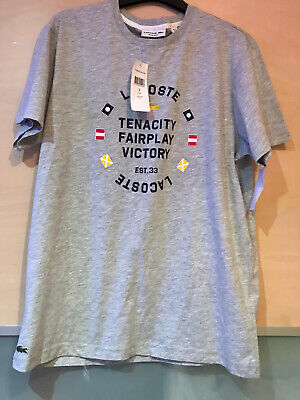 Lacoste T Shirt New With Tags Grey • 14£