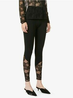 Wolford Perfect Fit Lace Leggings Black Size XS • 100£