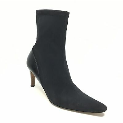Women's Gucci Pull On Sock Boots Shoes Size 38.5 C/8.5 C Wide Black Fabric J1  • 100.34£
