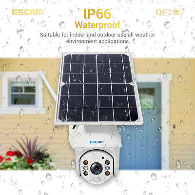 WiFi IP PTZ Camera 1080P HD Solar Power Security CCTV Night Vision Cam Outdoor • 103.39£