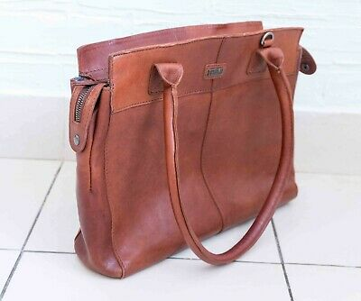 Spikes & And Sparrow - Woman 100% Genuine Leather Bag Tan Brown Medium Laptop • 119£