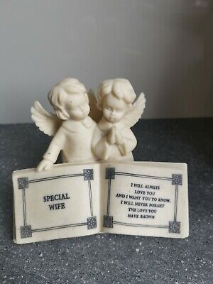£8.99 • Buy SPECIAL WIFE Graveside Memorial Angel Book Grave Plaque Funeral Cremation Burial