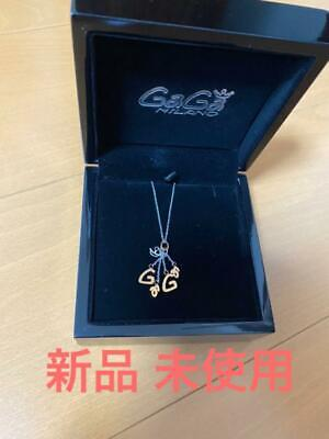 Gaga Milano Logo Necklace Pendant Stainless Ladies Accessories Near Mint • 203.85£