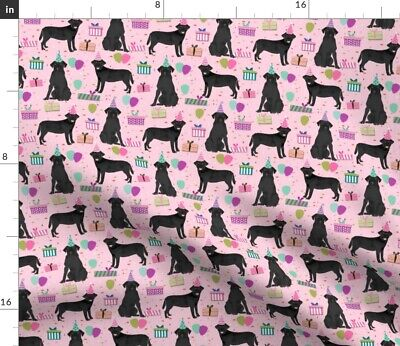 Black Lab Birthday Party Dog Breed Labrador Spoonflower Fabric By The Yard • 9.32£