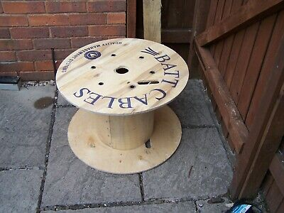 24 Inch 60cm Wooden Cable Drum Reel Plywood Project Table Industrial Worcester  • 12£