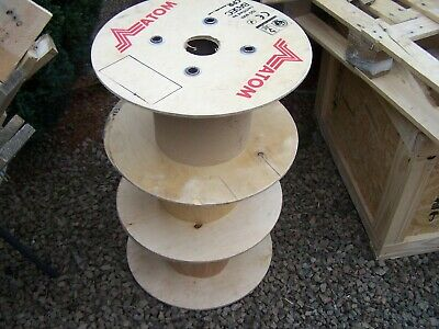 £10 • Buy 18 Inch Wooden Cable Drum Reel Plywood Project Table Industrial Worcester