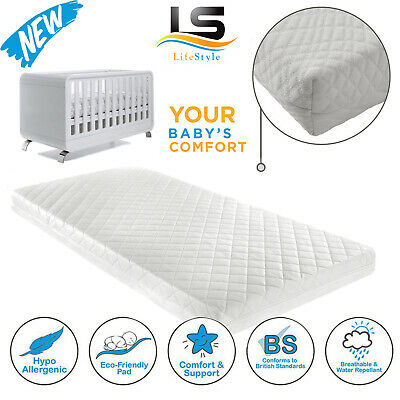£36.45 • Buy Baby Cot Bed Toddler Quilted Mattress Waterproof Breathable In All Sizes Quality