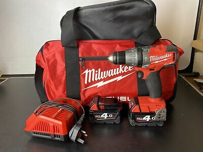 Milwaukee M18 FPD Cordless Drill, 2 X 4.0Ah Battery, Charger, Carry Bag • 199.99£