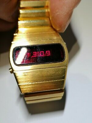 Vintage Lanco LED Digital Watch 70s With Box 104001 • 90£