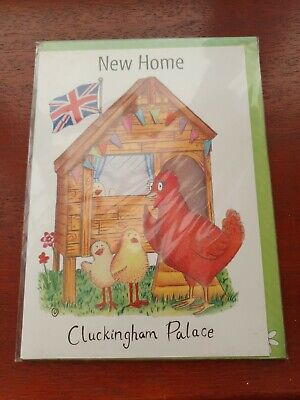NEW HOME Card CLUCKINGHAM PALACE Funny Greetings Card Chickens Moving House Card • 2.99£