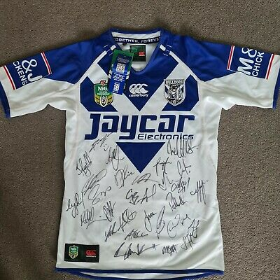 AU129 • Buy SIGNED 2014 Canterbury BULLDOGS NRL Jersey