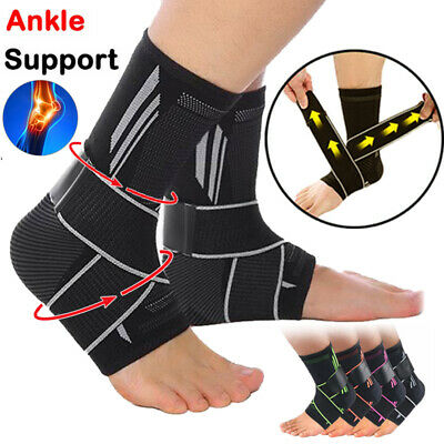 £5.99 • Buy Adjustable Ankle Support Brace Strap Foot Wrap Bandage Sports Running Joint Gym