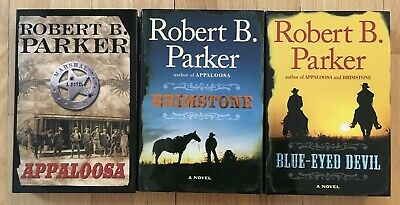 Lot 3 Robert B Parker Pb Westerns Appaloosa Hitch & Cole  Brimstone Hcdj  • 13.02£