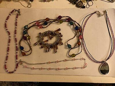 $ CDN31.23 • Buy Lot Of 4 Beaded Necklaces A Lia Sophia And Kenneth Cole And A Bracelet B21