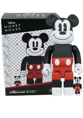 $144.99 • Buy Medicom Toy Be@rbrick Bearbrick Mickey Mouse 2020 Red & White Ver. 100% & 400%