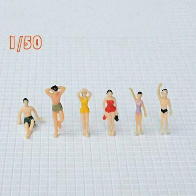 $1.78 • Buy 1/50 1/100 Scale Figures Model Miniature Models People E6Y4 For Layout W0E6
