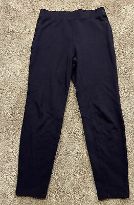 $ CDN44.29 • Buy LULULEMON Woman's Size 10 Navy Blue Full Length Leggings Pants EUC