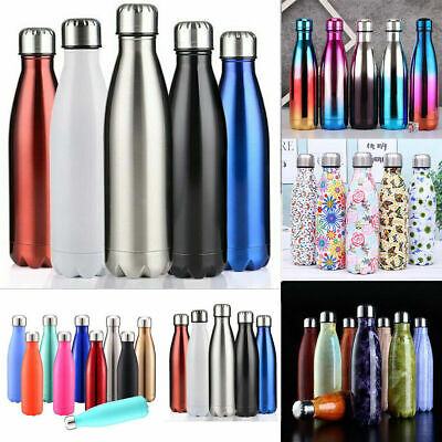 AU19.86 • Buy 0.35-1L Stainless Steel Vacuum Insulated Water Bottle Flask Thermos Drink Cup AU
