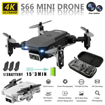 AU47.99 • Buy Drones With 4K HD Camera Foldable Arms Remote ?WiFi FPV Quadcopter 1/3 Batteries