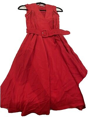 AU75 • Buy Scanlan Theodore Red Dress Belted
