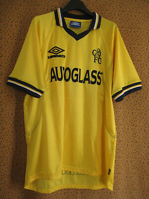 £38.50 • Buy Maillot Vintage Chelsea Desailly #6 Autoglass Jaune Jersey Football - L