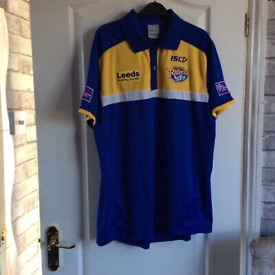 Mens Rugby Shirt LEEDS RHINOS Size L • 12£