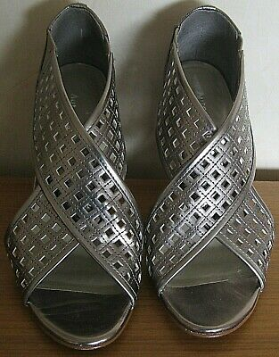 Pewter Coloured Shoes In Crossover Design By Autograph, Size 4. • 5£