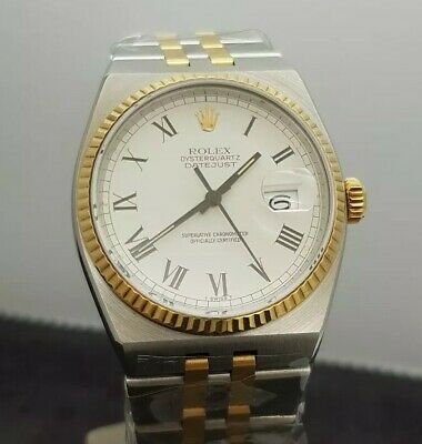 $ CDN6216.63 • Buy Rolex Datejust OysterQuartz 36 Mm 18K Gold/Steel Ref: 17013 (1981 Year)