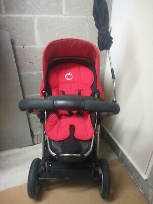 ICandy Red Stroller (Silver, Black & White) • 80£