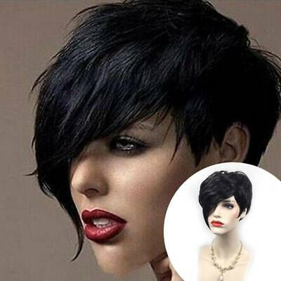 £12.19 • Buy Women Pixie Short Curly Wigs Afro Real Natural Black Hair Full Wig Cosplay Party